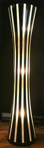 Art Deco Floor Lamp - Black & White Stripe