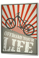 Tin Sign XXL Nostalgic Bike offroad metal plate plaque