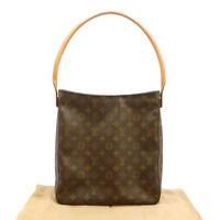 Authentic LOUIS VUITTON Looping GM Shoulder Bag Monogram Canvas M51145 #S206055