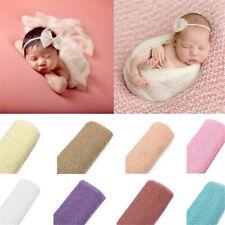 Baby Photography Props Blanket Rayon Wraps Stretch Knit Wrap Newborn Swaddling