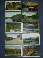 10 OLD POSTCARDS , USED , GROUP #3