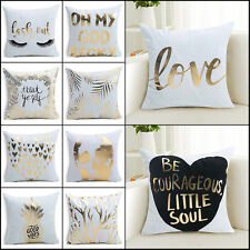 Letter Pattern Luxe Pillow Case Sofa Waist Throw Blend Cushion Cover Home Decor