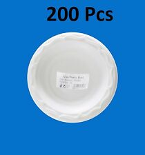 200pc H-Quality Extra Strong Disposable White Plastic Bowls Microwave Safe 12oz