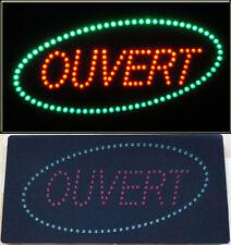 Enseigne lumineuse Panneau à LED OUVERT rouge et vert 60x30x2.5cm