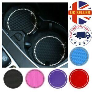 Diamond Cup Holder Anti-Slip Mat Coaster Insert Car Van Silicone UK Seller