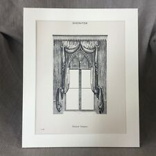 Impresión Victoriano Antiguo Sheraton Gótico Ventana Cortinas Cortinas De Diseño De Interiores