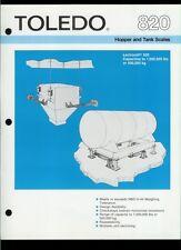 Rare Vintage Original Toledo Scale Dealer Sheet Page: 820 Lectrocell Hopper Tank