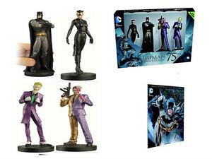 Eaglemoss * Batman 75th Anniversary Figurine Set * Catwoman Joker Two-Face NIB