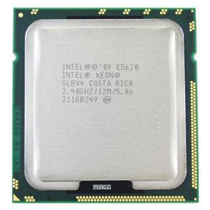 Intel xeon E5620 E5630 E5640 E5645 L5640 LGA 1366 PIN Processors ONLY cpu