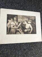 "Vintage Etching The Three Graces 12""X9.5"""