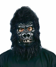Gorilla Deluxe Latex Mask With Movable Mouth Monkey Ape Halloween