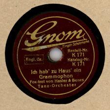 """Ich hab' zu Haus' ein Grammophon SCHELLACK- KLEINFORMAT """"Gnom"""" 15 CM; 78rpm M81"""
