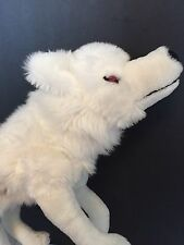 """Game Of Thrones White Wolf Plush Direwolf 18"""" Stuffed Animal Ghost Toy HBO Cub"""