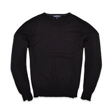 Ben Sherman señores V-Neck suéter Sweater talla M punto negro 95586