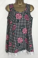 D*rothy P*rkins Sample Black Floral Cotton Jersey Maternity Top Size 12