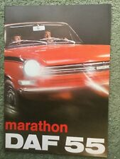 Daf 55 Marathon 1971-72 UK Market Sales Brochure Saloon Coupe in VGC