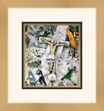 Marc Chagall Print - White Crucifixion Newly Custom Framed FREE SHIP