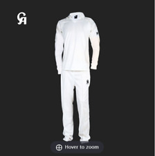 NEW CA White Cricket Senior Trousers Pants and Long Sleeve Shirt Set Size S M L