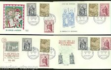 VATICAN CITY 1963 APOSTLES GROUP OF FOUR DIFFERENT CACHETED  FIRST DAY COVERS