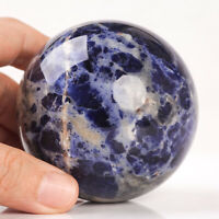 535g 72mm Large Natural Blue Sodalite Quartz Crystal Sphere Healing Ball Chakra