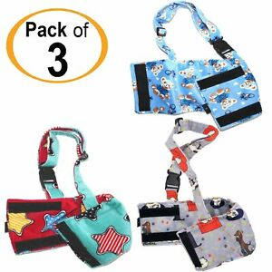 PACK - 3pcs Dog BELLY BAND Wrap Diaper Male Washable SOFT Fleece SUSPENDERS XS-L