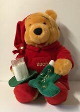 The Disney Store Winnie The Pooh 2000 Christmas Stuffed Animal 13'' NWT