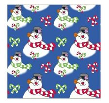Christmas Fabric - Frosty Snowman Allover Blue - QT Quilting Treasures YARD