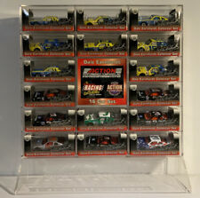 (T9) DALE EARNHARDT 16 CAR COLLECTOR SET WITH DISPLAY STAND 1:64 DIECAST ACTION