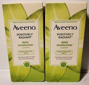 Aveeno Positively Radiant daily moisturizer. 2 pk.
