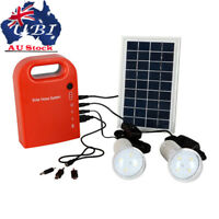 Solar Power Panel Generator System LED Light 5V USB Charger Home Outdoor AU