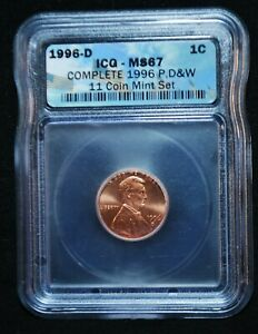 1996-D ICG Enhanced Uncirculated PROOF LINCOLN Memorial Cent Penny MS-67