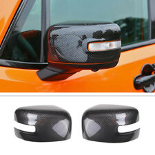 Fit For 2015-2020 Jeep Renegade Carbon Fiber Look Rear-View Mirror Cover Trim 2P