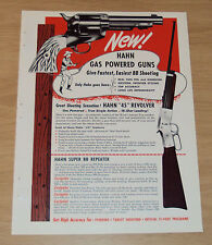 "1959 Trade Catalog Brochure~""HAHN GAS POWERED GUNS""~Advertising~"