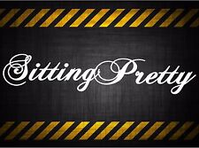 Sittin Pretty 22'' decal vinyl car sticker diesel windshield banner pink girly