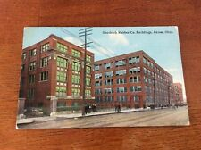 Postcard Akron, Ohio. Goodrich rubber Comapny Buildings and Pedestians. Unposted