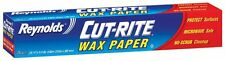 Reynolds Cut-rite Wax Paper 23m x 30cm 75 sq.ft Die Cut Easy Release 00330