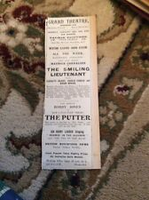 J1-4 1932 Ephemera Advert Grand Theatre Falmouth Bobby Jones Golfer Golf Film