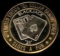 """.999 $10 Slots-A-Fun Casino Silver Strike • Blackjack """"21"""" • Las Vegas"""