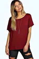 Boohoo Viscose Short Sleeve T-Shirts for Women