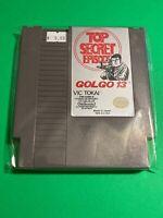 🔥 100% WORKING NINTENDO NES SUPER RARE GAME Cartridge - Vic Tokai - GOLGO 13