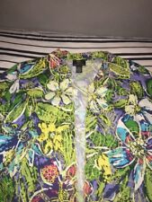 TRENZ Theresa Renz EMBROIDERED JACKET BLAZER Multi-Color FLORAL Ladies 1X