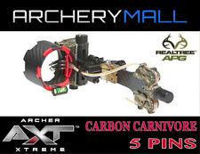 AXT CARBON CARNIVORE 5 PIN SIGHT  (APG REALTREE CAMO)