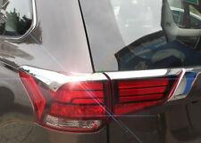 Chrome Rear Tail Light Lamp Cover Trim 4pcs For Mitsubishi Outlander 2016 - 2018