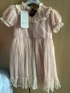 Gucci Girls Tulle Victorian Style Dress Netted Age  6 £495
