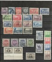 AUSTRALIA LOT Sc 95-218 USED did not continue,265,412,413,C01 PAIR MINT HR FVF