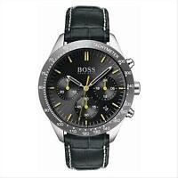 Orologio Cronografo Uomo HUGO BOSS 1513659 Cassa Acciaio Cinturino Pelle