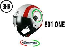NEW CASCO DEMI JET BHR 801 ONE COOL LINE C ITALIA TAGLIA S VISIER ELICOTTERISTA