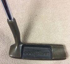 Vintage Goodyear Tires Brass Head Steel Shaft Putter Golf Club - Collectable