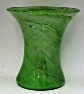 A  Large Nazeing green swirl Glass Vase c1930