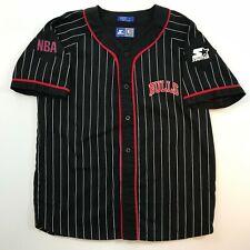 Starter Chicago Bulls Baseball Jersey Michael Jordan Size Large Pinstriped VTG